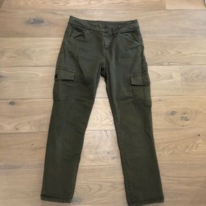 Talbots army green cropped cargo pants